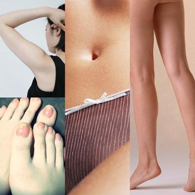 女性のムダ毛処理方法!アンダー(VIO)腕、足、指!